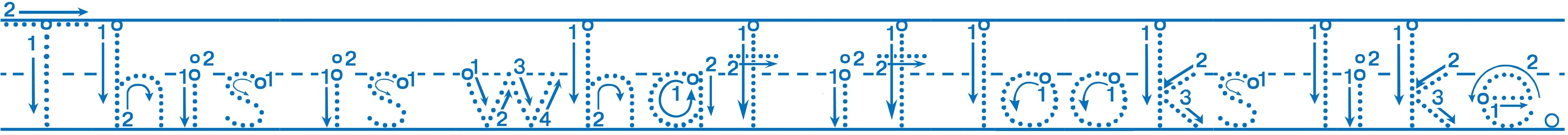 Alphabet Tracing Font for Kids   Free Alphabet Font Sample